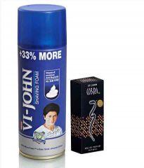 After Shave Lotions - St.John-Vijohn Shave Foam 400GM For Hard Skin & Cobra Perfume 30ML-(Code-VJ83)