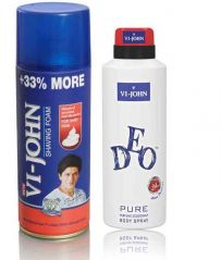 St.John-Vijohn Shave Foam 400GM For Hard Skin & VIJOHN Deo Pure-(Code-VJ91)