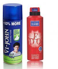 St.John-Vijohn Shave Foam 400GM For Sensitive Skin & VIJOHN Deo Energetic-(Code-VJ96)