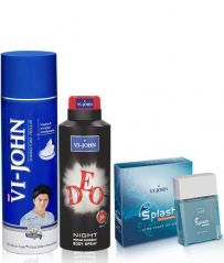 St.John-Vijohn Shave Foam & VI-JOHN Deo Night  + After Shave Splash 50ml-(Code-VJ99)