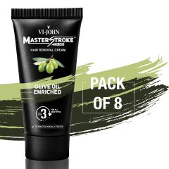 Master Stroke Men Hair Removal Cream Olive 60GM Pack of 8