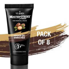 Master Stroke Men Hair Removal Cream Argan Oil 60GM Pack of 8