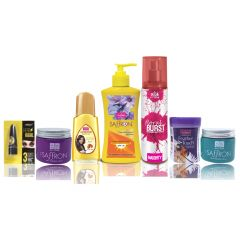 Travel Kit For Women(Hair Remover Honey/Saffron & Saffron Day/Night Fairness Cream & Suncreen Body Lotion & Almond Hair Oil & Deo Floral Brust & Kajal