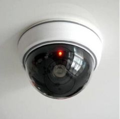 Security Cameras - Lingsfire White Wireless Fake Dummy Dome Cctv Security Camera With Flashing Red LED Light For House Or Office Mall.