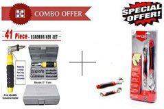 Unique Gadget Buy 41 Pcs Tool Kit Screwdriver Set With Snap N Grip Multipurpose Wrench - 41TKSNG