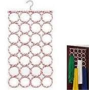 28-hole Ring Rope Slots Holder Hook Scarf Wraps Shawl Storage Hanger