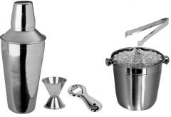 Dynamic Store 5 Pcs Beginners Bar Set - Ice Bucket - Ds_230 - Home & Kitchen