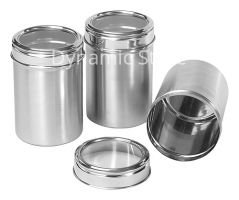 Dynamic Store Stainless Steel Kitchen storage Canisters with see through lid - Set of 3 - DS_24