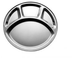 Dynamic Store Set Of 4 Stainless Steel Round Mess Tray / Plate - DS_27