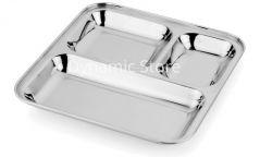 Dynamic Store Set Of 4 Stainless Steel Pav Bhaji / Snacks Plate - DS_31