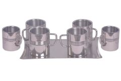Dynamic Store Set Of 6 Big Sober Mug With Ring And A Tray - DS_313