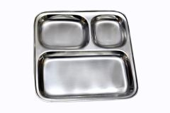 Dynamic Store Set Of 8 Stainless Steel Pav Bhaji / Snacks Plate - DS_33