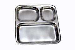 Dynamic Store Set Of 6 Stainless Steel Pav Bhaji / Snacks Plate - DS_32