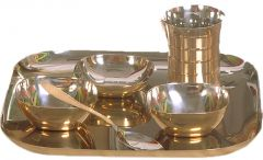 Dynamic Store 6 Pcs Dinner Set With Bottom Brass Plating - DS_321
