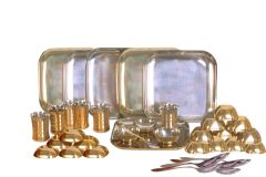 Dynamic Store 36 Pcs Dinner Set With Bottom Brass Plating - DS_324