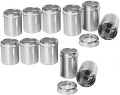 Dynamic Store Stainless Steel Kitchen storage Canisters with see through lid - Set of 11 - DS_421