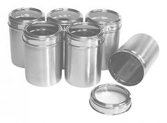 Dynamic Store Stainless Steel Kitchen storage Canisters with see through lid - Set of 6 - DS_85