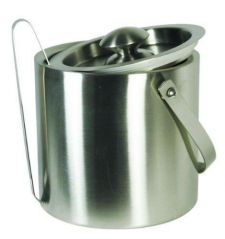 Grant Howard 50335 Brushed Stainless Double Wall Ice Bucket With Tong/lid/carry Handle- 2-1/2-quart