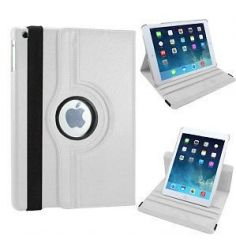 PU Leather Full 360 Degree Rotating Flip Book Case Cover Stand for ipad air 5  (White)