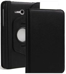 PU Leather 360 Deg Rotatable Leather Flip Case Cover For Samsung Tab 3 Neo T111 T110 Tablet (Black)
