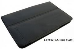 PU Leather Flip Book Case Cover Stand for Lenovo A1000 IDEATAB (BLACK)