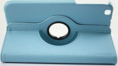 PU Leather Full 360 Rotating Flip Book Cover Case Stand for Samsung Galaxy Tab 3 T311 (Sky Blue)