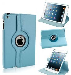 PU Leather 360 Degree Rotating Leather Case Cover Stand (Sky Blue) for iPad Mini 2 Retina