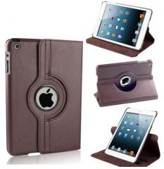 PU Leather for 360 Degree Rotating Leather Case Cover Stand (Brown) iPad Mini 2 Retina