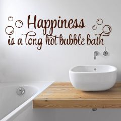 Decor Kafe Happiness Is A Hot Bubble Bath Wall Decal    -(Code-DKBS0116BS)