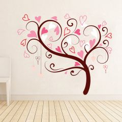 Decor Kafe Heart Shaped Tree Wall Decal Dkhms0118
