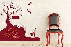 Decor Kafe Happy Halloween Wall Decal  -(Code-DKHS0232BUM)