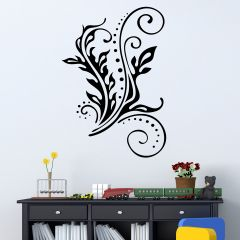 Decor Kafe Floral Leaves Wall Decal Code - DKHS0351