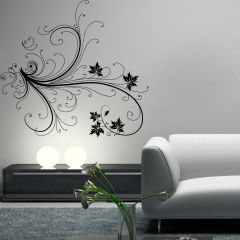 Decor Kafe Floral Branch Wall Decal  -(Code-DKHS0381M)