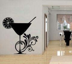 Decor Kafe Wine Glass Wall Decal  -(Code-DKKS0126M)