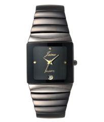 Watches - Jainx Black Square Dial Analog Watch For Men & Boys - JM194