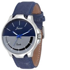Men's Watches   Analog   Other - Jainx Blue N Grey Dial Analog Watch For Men & Boys - JM-202