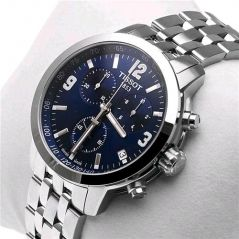 Shop or Gift Imported Tissot T171.586.42 Prc200 Chronograph Blue Men Wrist Watch Online.