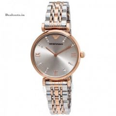 Imported Emporio Armani AR1840 Rare Retro Style Dual Tone Watch for Women
