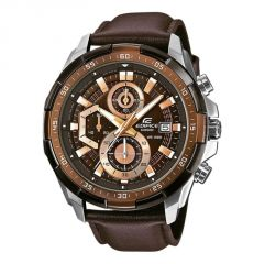 Men's Watches   Round Dial   Leather Belt   Analog - Casio Edifice Chronograph Watch Efr-539l-5a