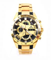 Imported casio edifice 540 black dial full gold watch for men new arrival