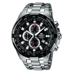 Shop or Gift Casio 539 Black Dial Silver Chain Watch For Men Online.