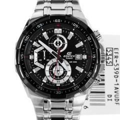 Shop or Gift Casio 539 Black Dial Silver Chain New Arrival Watch For Men Online.