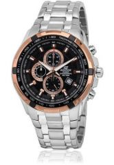 Shop or Gift Casio 539 Black And Copper Dial With Silver Chain Watch For Men Online.