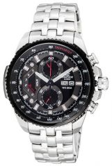 Shop or Gift Casio 558 Black Dial Silver Chain Watch For Men Online.