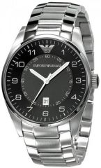 """Armani Mens' Watches   Round Dial   Metal Belt   Analog - Imported Emporio Armani Ar5863 R Stainless Black Dial - Men""""s Wrist Watch"""