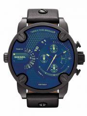 Diesel Men's Watches   Round Dial   Leather Belt   Analog - Diesel The Daddie Analog Chronograph Blue Dial Watch For Men - Dz7257