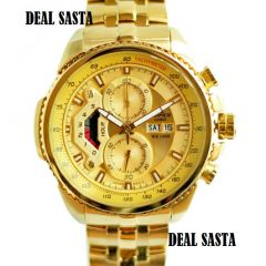 Mens' Watches   Round Dial   Metal Belt   Analog - Imported casio Edifice 558 full gold watch for men