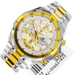 Imported Casio Efr-539 Chronograph Mens Watch Two Tone Colour Steel Strap