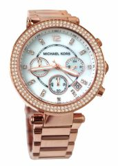 Imported Michael Kors Women's MK5491 Rose Gold-Tone Chronograph New Watch