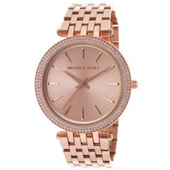 Imported Michael Kors MK3192, Sleek Design, Full Rose Gold Studded Bezel Watch for Women